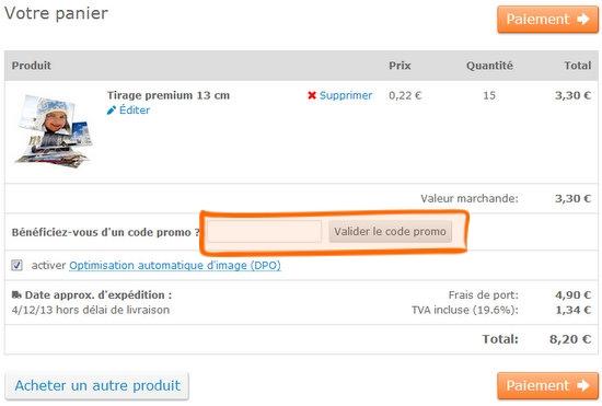 Commande livraison comment utiliser un code promo bon - Code promo achat design ...