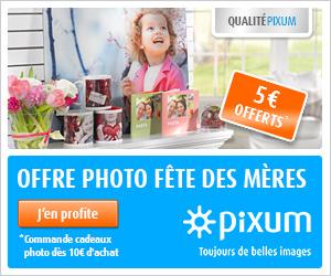 -5€ cadeaux photo fête des mères